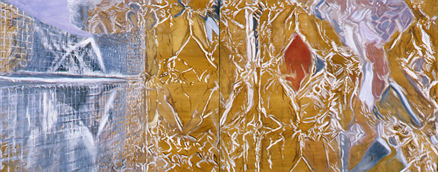 Double Birdcage 40 x 100 in oil canvas 1990