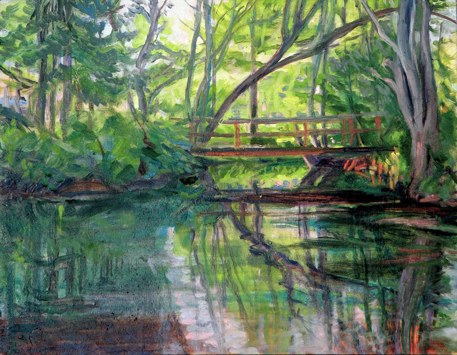Adirondack bridge 11 x 14 in oil on wood 2016