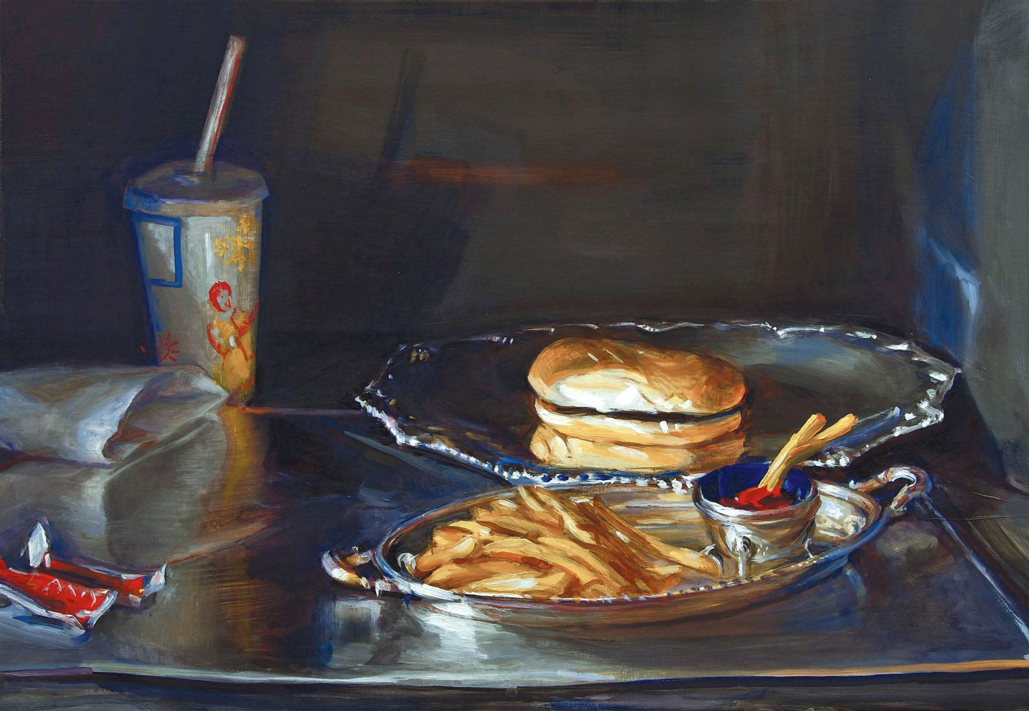 Happy Meal 18 x 24 oil on wood 2009