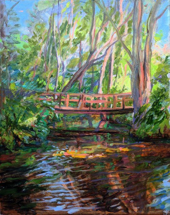 Caroga Bridge 14 x 11 in. oil on wood 2017