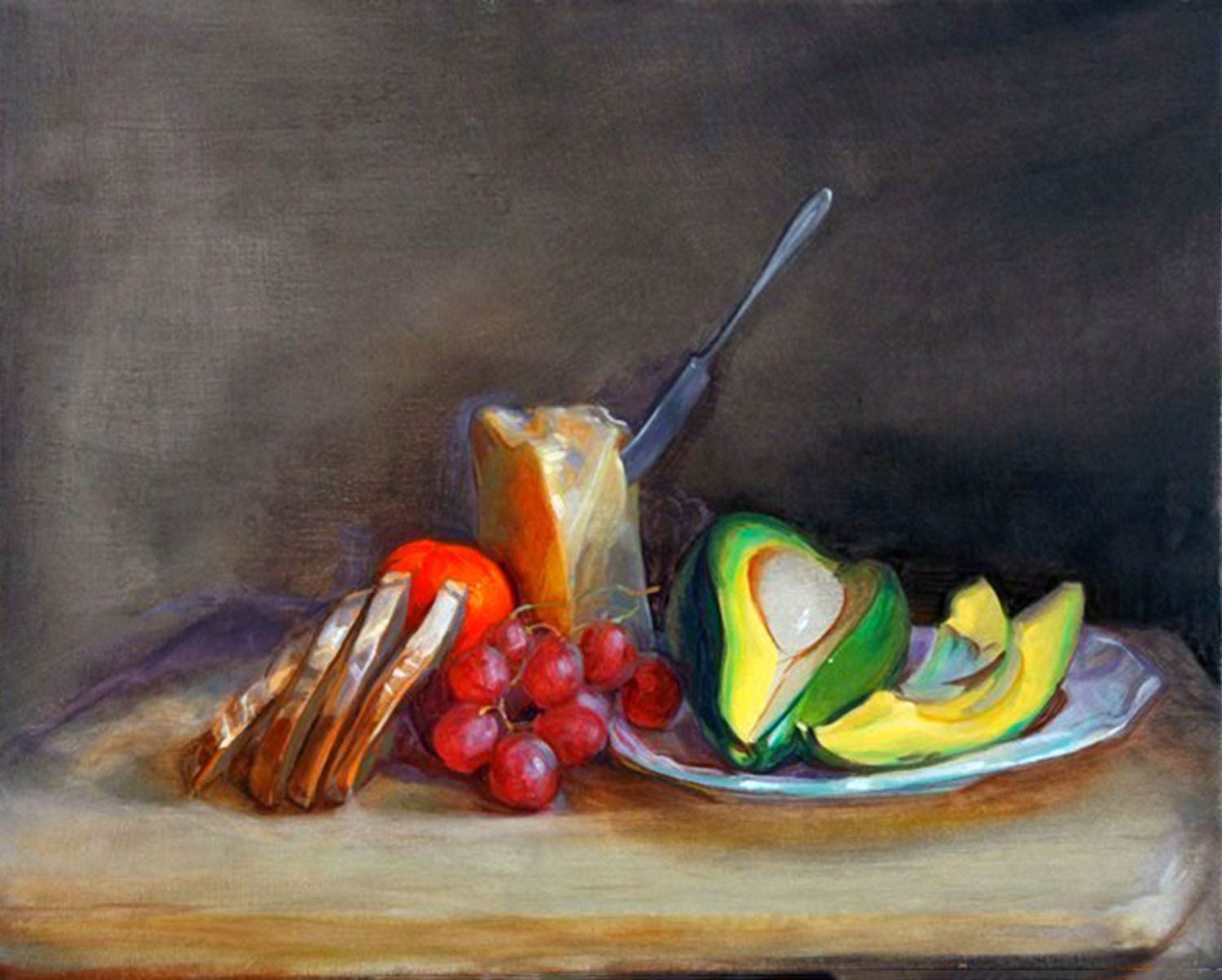 Avocado Slice 24 x 30 in oil canvas 2008