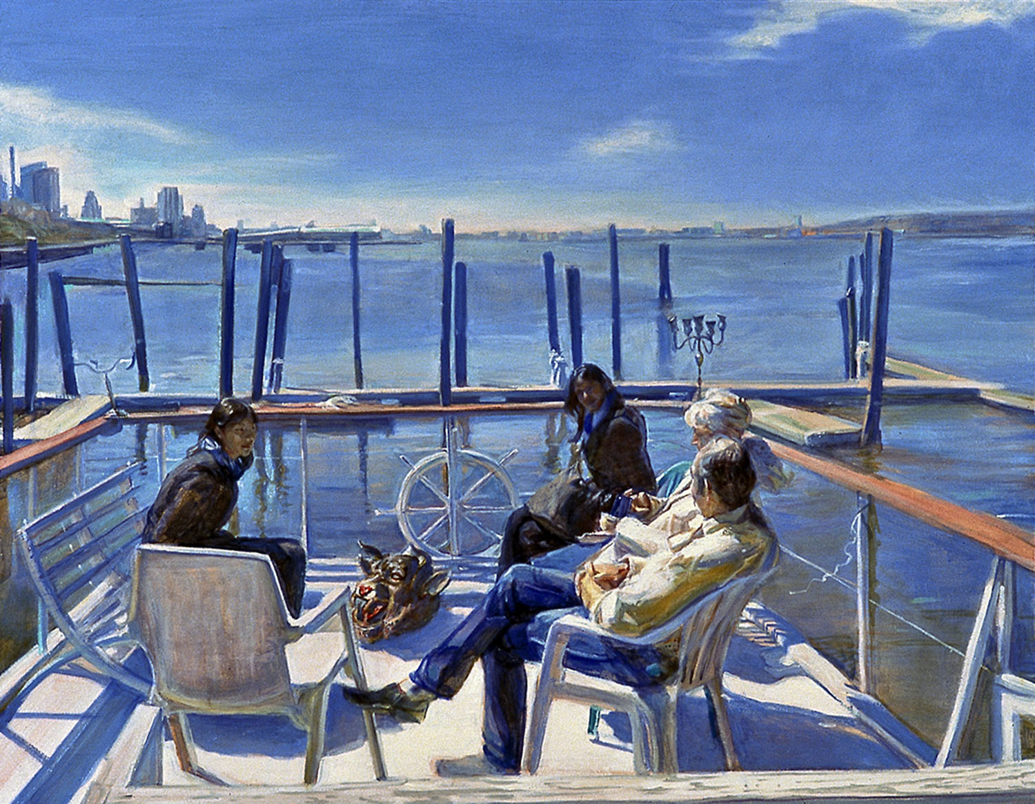 On Deck 34 x 40 in oil canvas 2005