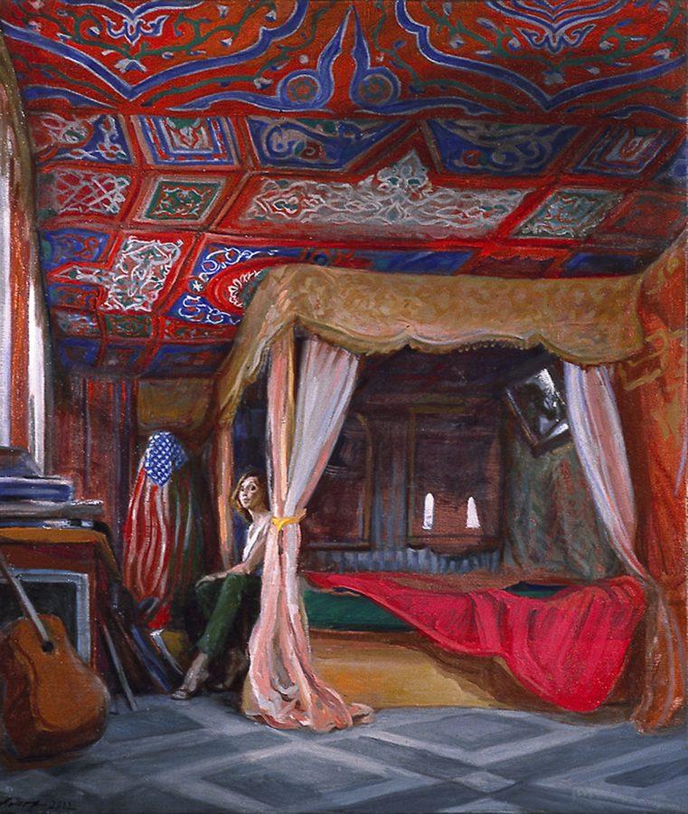Bedroom 24 x 36 in oil wood 2005