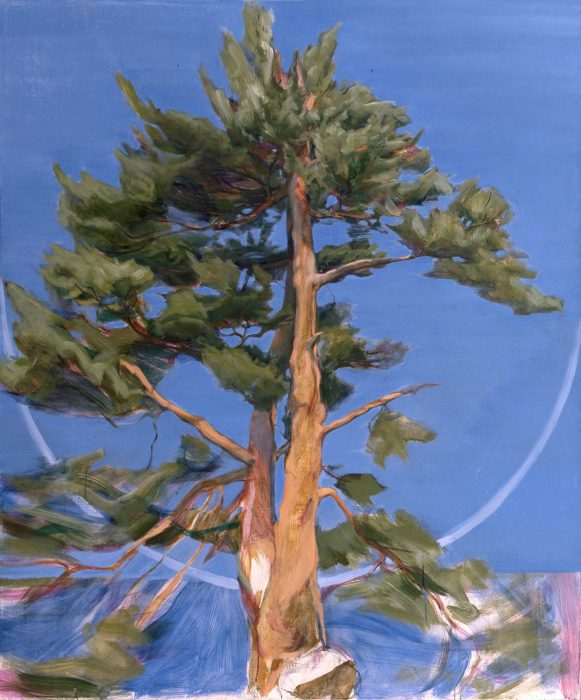 Tree 72 x 60 in. oil on canvas 1990