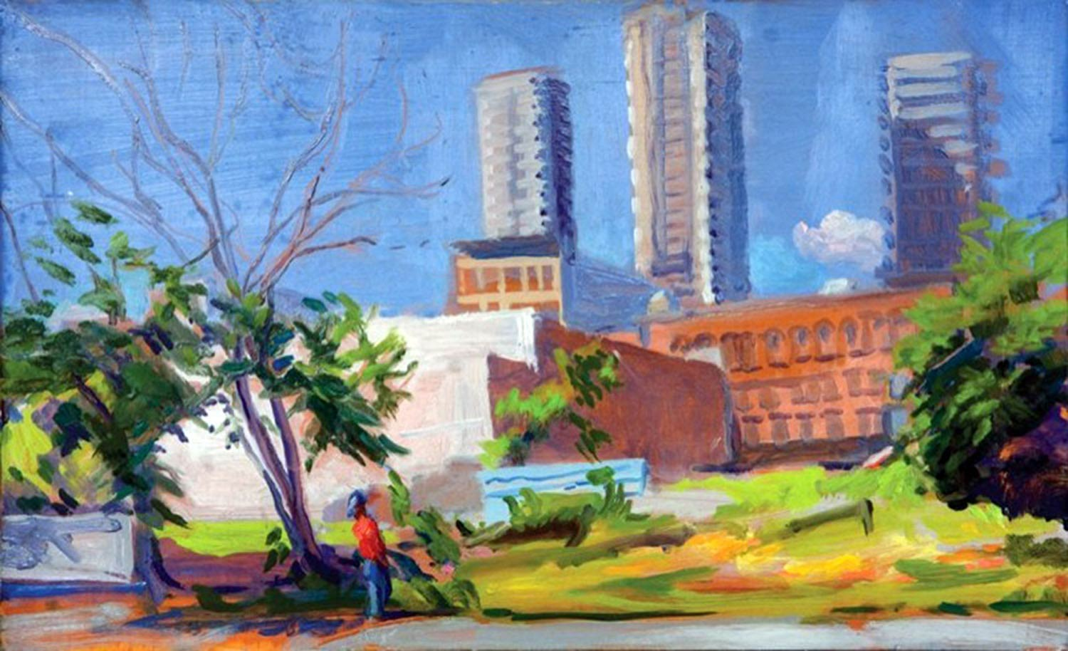 TainoTowers 12 x 16 in. oil on wood 2004