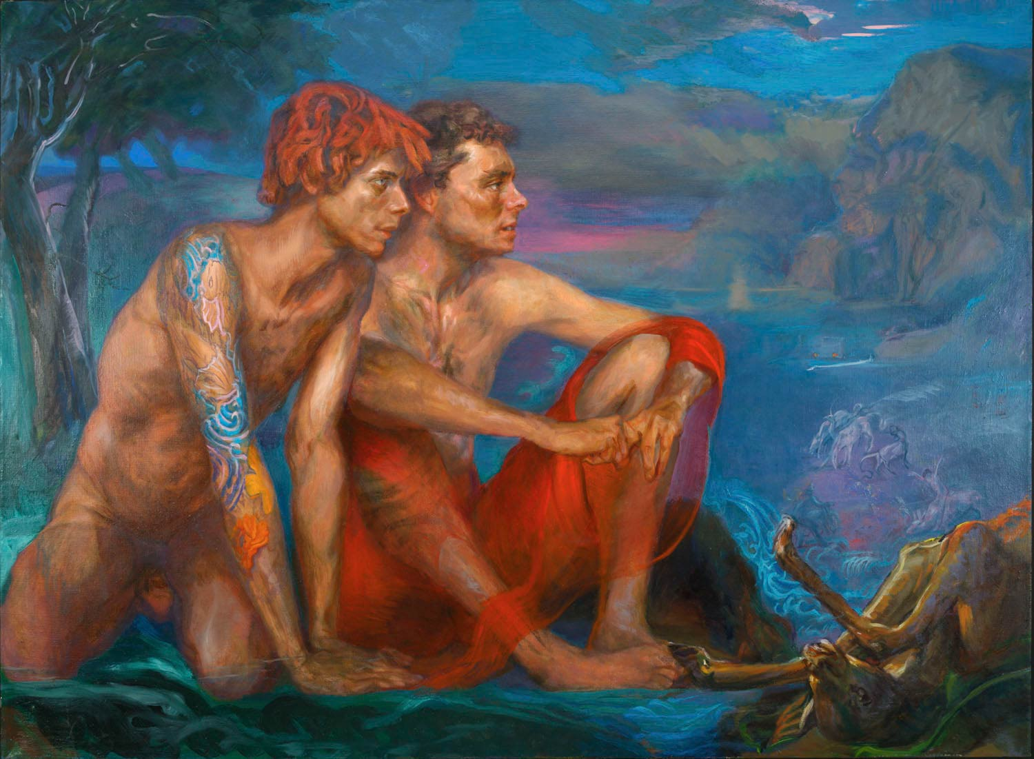 Tatoos 48 x 60 in oil canvas 1999