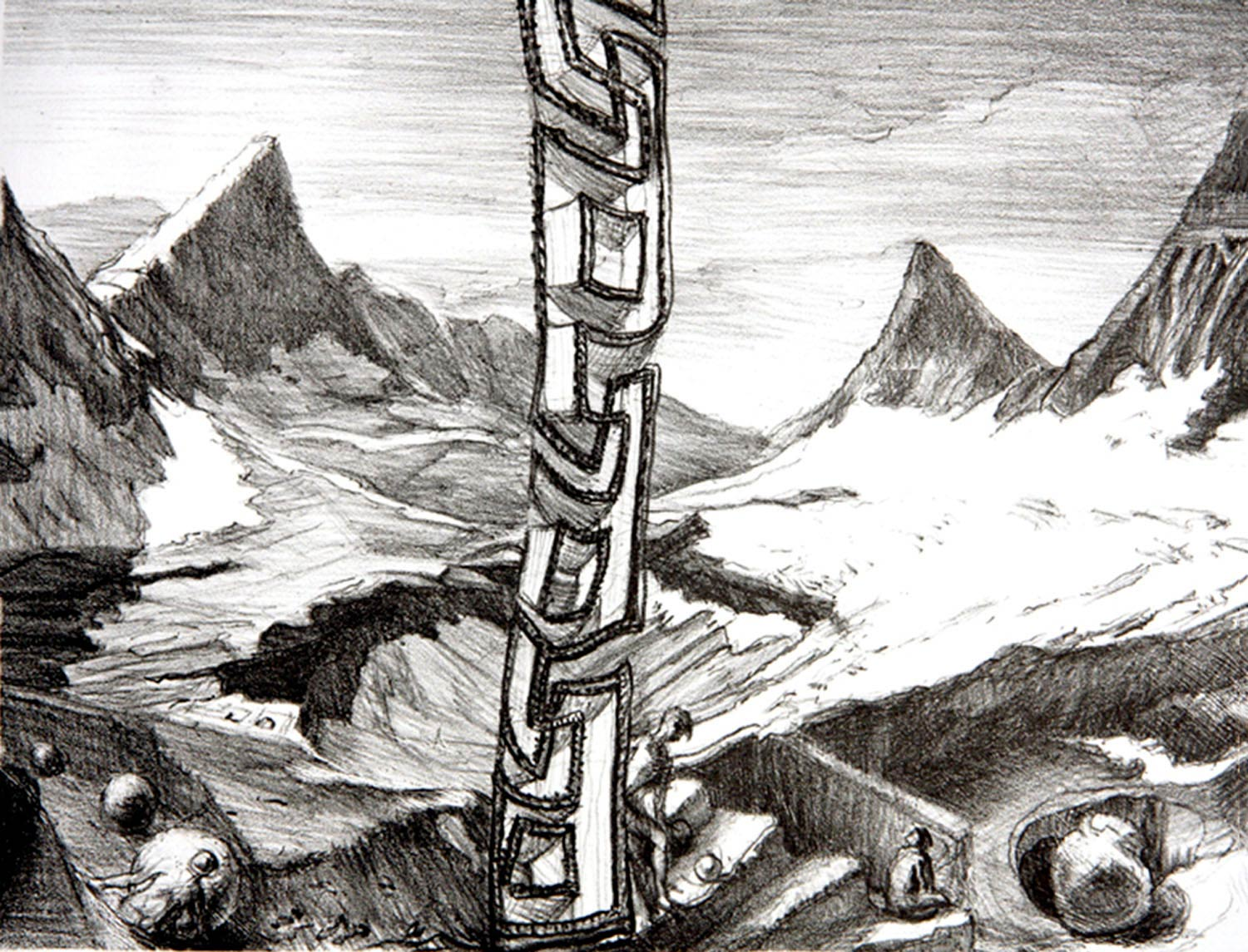 Glacier Loss litho 12 x 16 in 2010