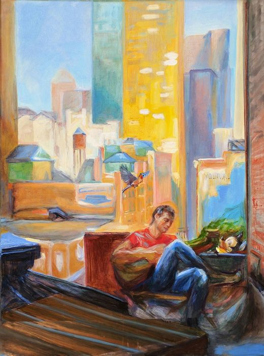 Midtown 70s 18 x 24 in oil on copper2016