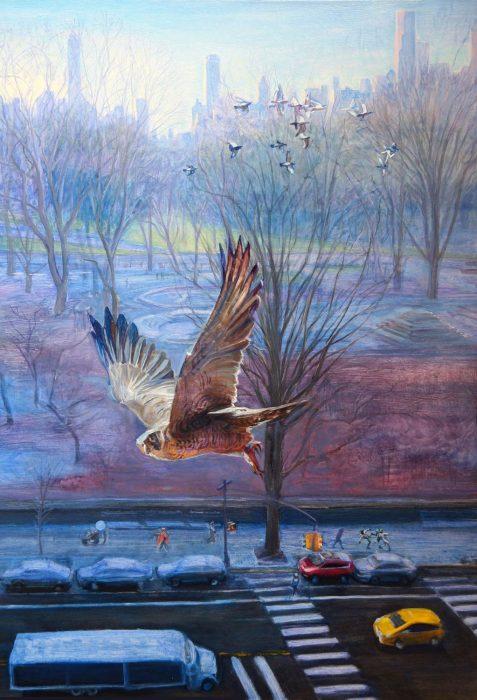 Birdseye 48 x 34 oil canvas 2016