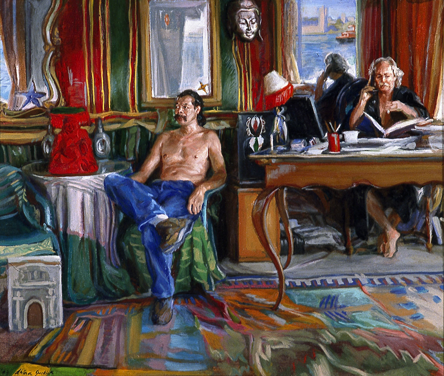 Simone and Hubert 28 x 32 in. oil canvas 2004