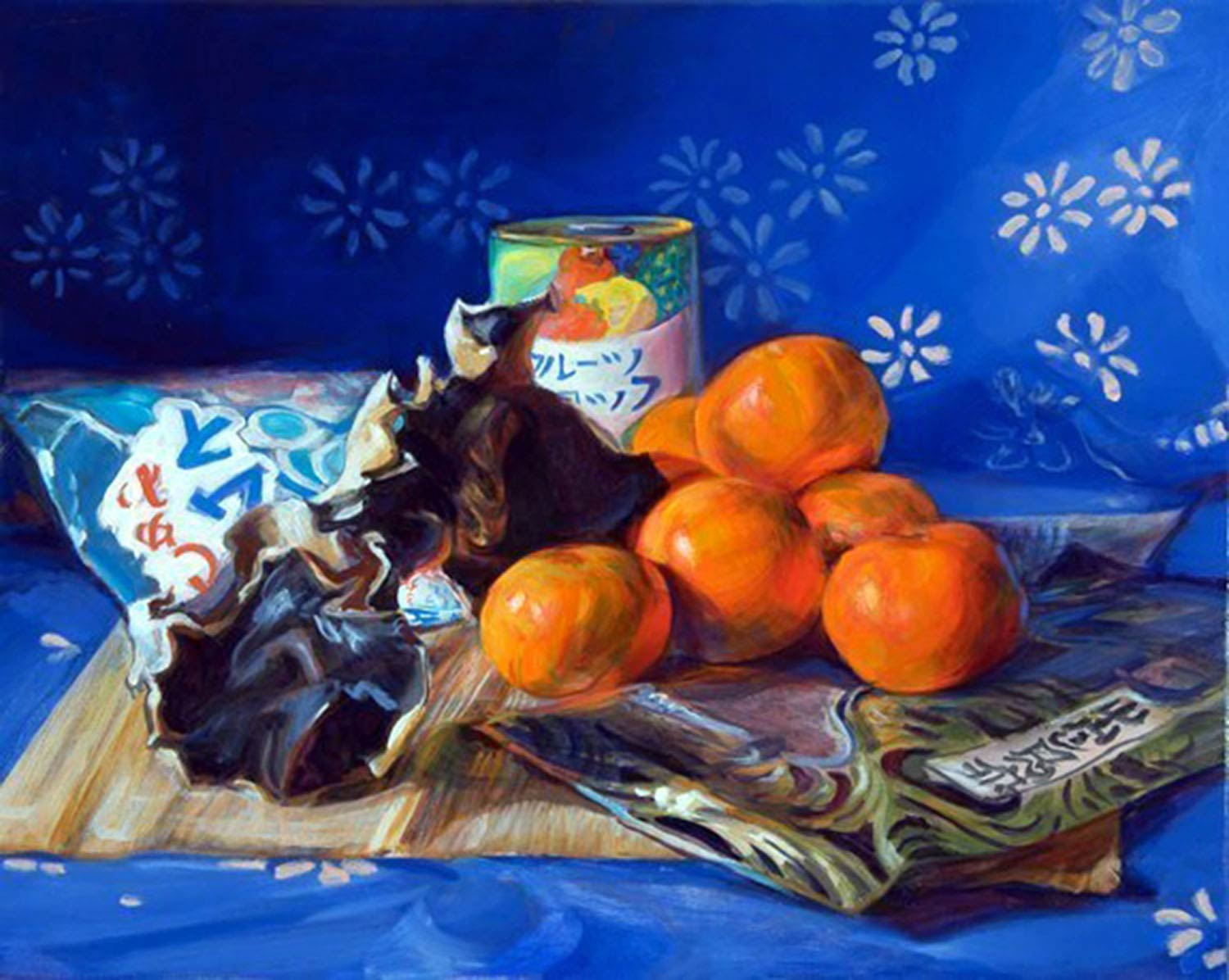 Japanese Snacks 24 x 30 in oil canvas 2009