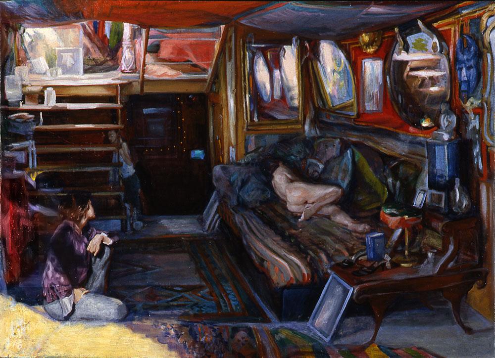 Excalibur Interior 26 x 36 in oil canvas 2004
