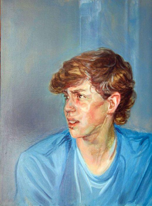 Michael eighteen 24 x 28 in oil wood 24 x 20 in