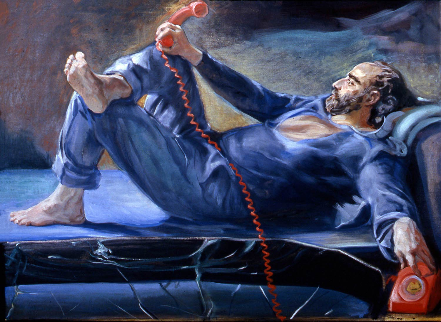 Michele Red Phone 56 x 45 oil canvas 2000