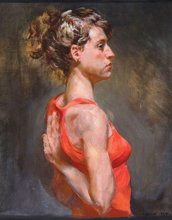Yogini oil canvas 24 x 18 1988