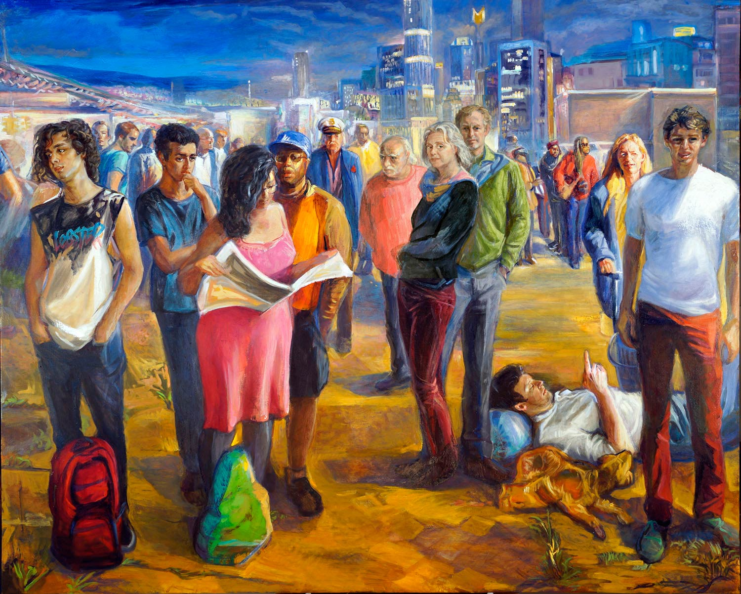 A Crowd oil on canvas 2017 60 x 72 in