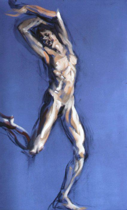 Bacchante Purple 2 72 x 36 in oil canvas 1985