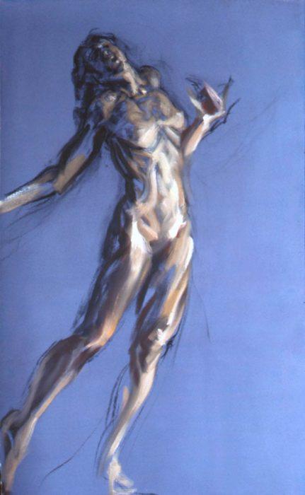 Bacchante Purple 1 72 x 36 in oil canvas 1985