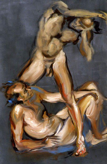Bacchante Michele 72 x 36 in oil canvas 1985