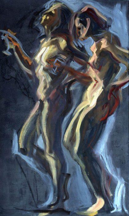 Bacchante Deb 72 x 36 in oil canvas 1985