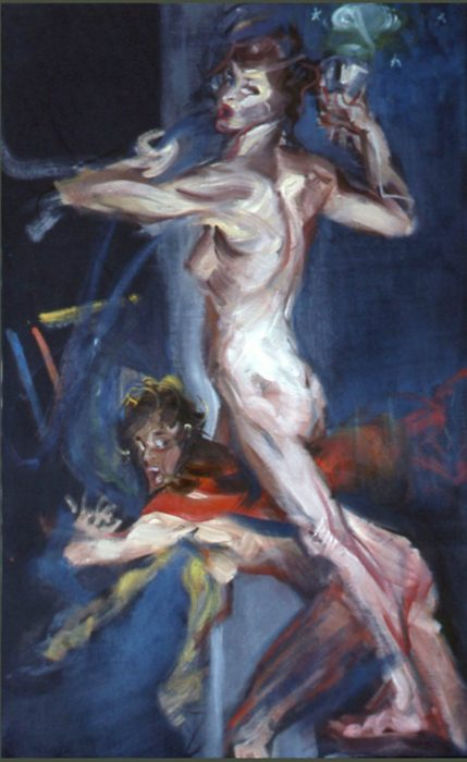 Bacchante Cup 72 x 36 in oil canvas 1985
