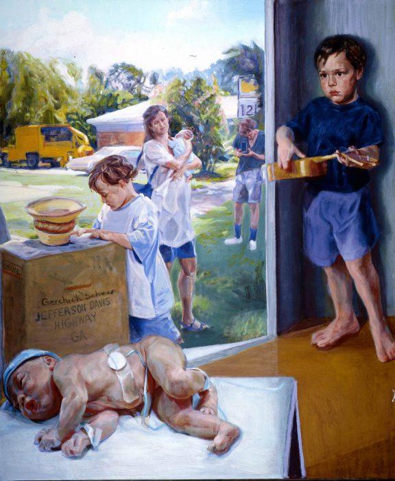 Jeff Davis hywa 34 x 40 in oil canvas 1995