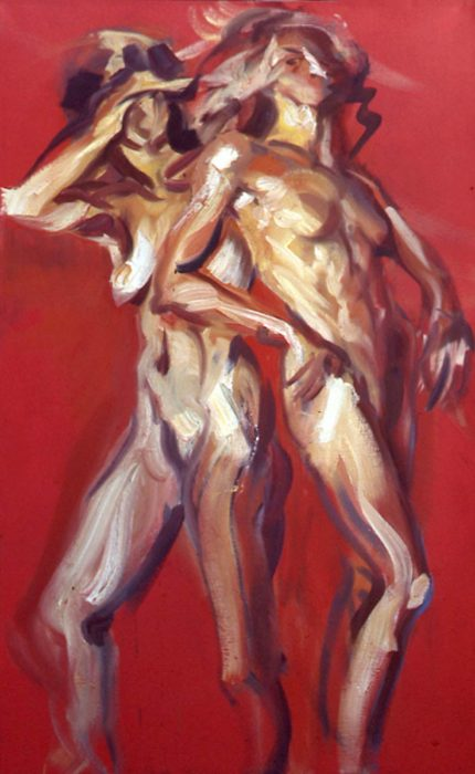 Bacchantes Red 2 72 x 36 in oil canvas 1985