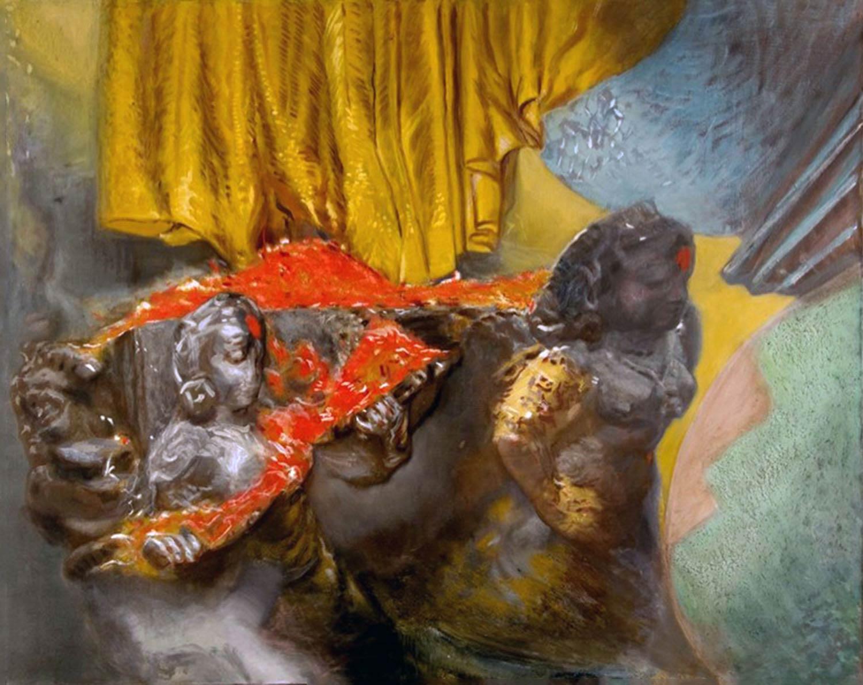 India Pigment 48 x 56 in oil canvas 1990