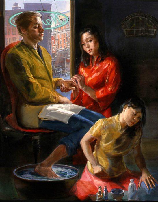Nails Salon 72 x 60 in oil canvas 2007