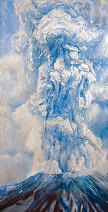 12 Volcano 48 x 26 oil canvas 2010
