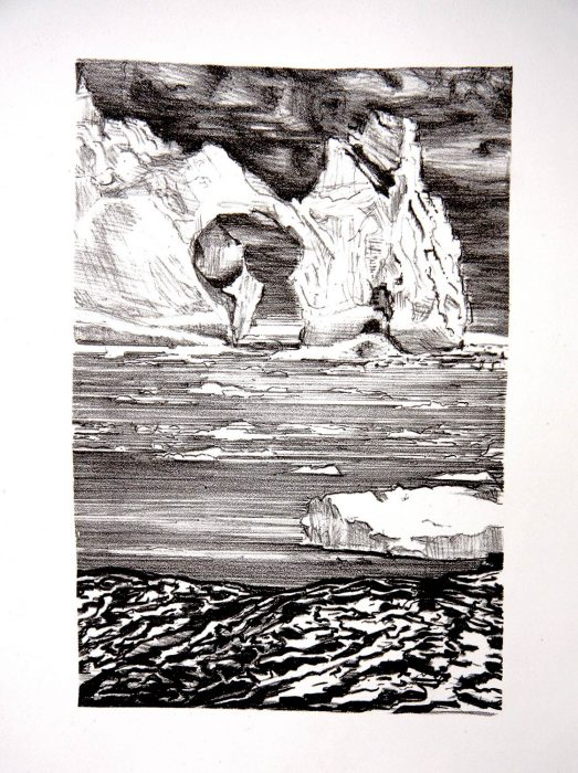 Iceberg litho 12 x 9
