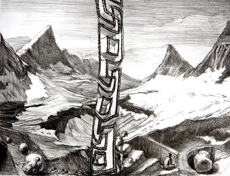 Glacier Loss litho 12 x 16 in 2010