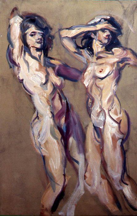 Bacchantes Beige 72 x 36 in oil canvas 1985