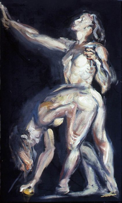 Bacchantes Deb crouch 72 x 36 in oil canvas 1985