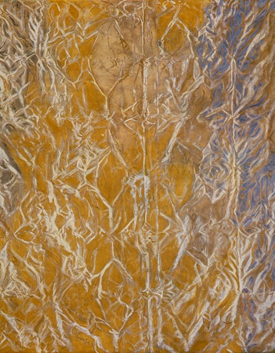 Abstract Gold 72 x 60 in 72 x 36 in oil canvas 1989
